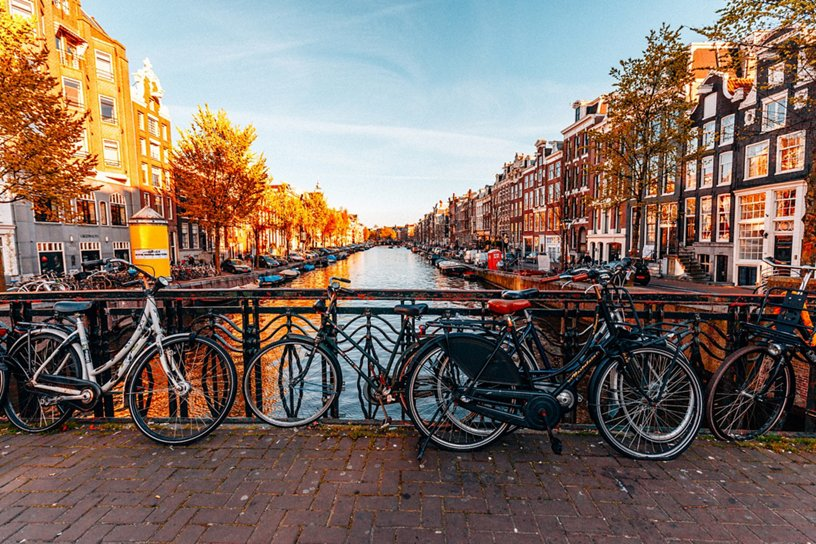 Amsterdam Canals bicycles bridge