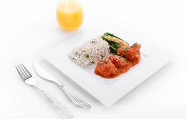 Qatar Airways inflight meal main juice