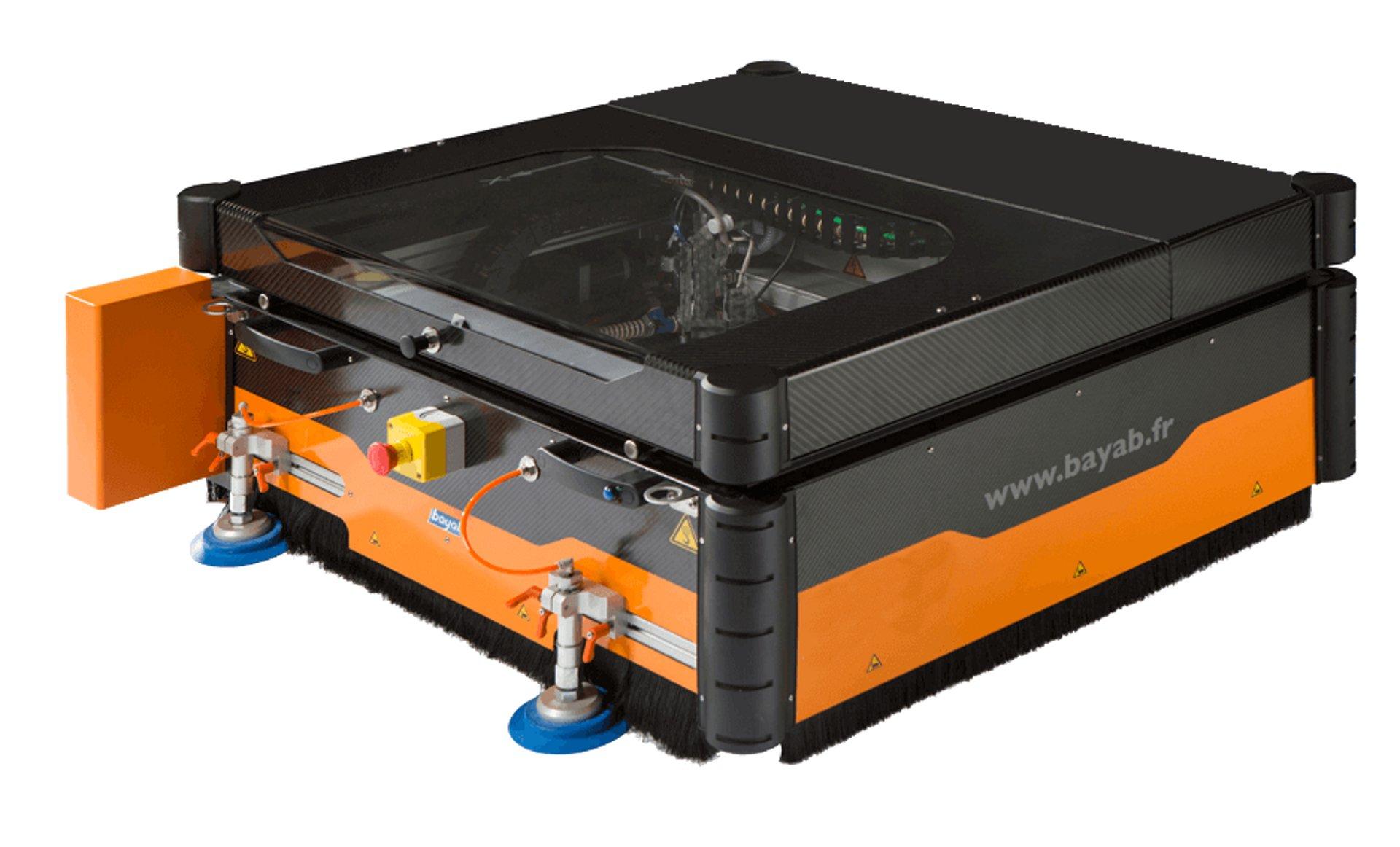 Repair Jet is a portable composite repair machining tool.