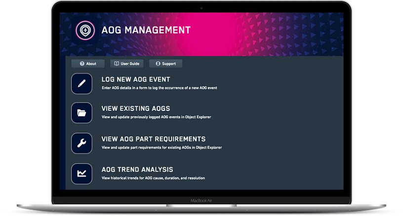 Aog Management Skywise App Screen