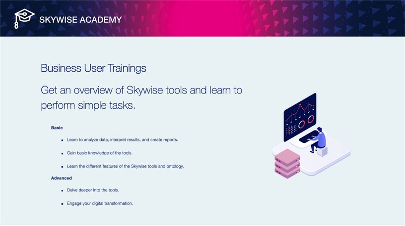 Skywise Academy - Business user Trainings