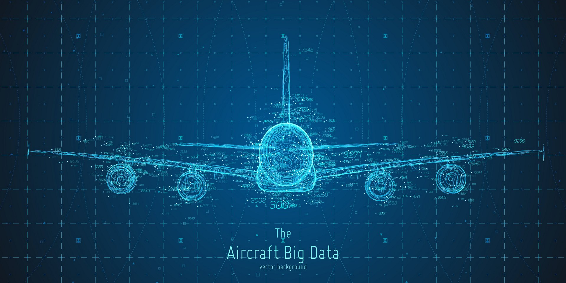 Aircraft infographics aesthetic design.