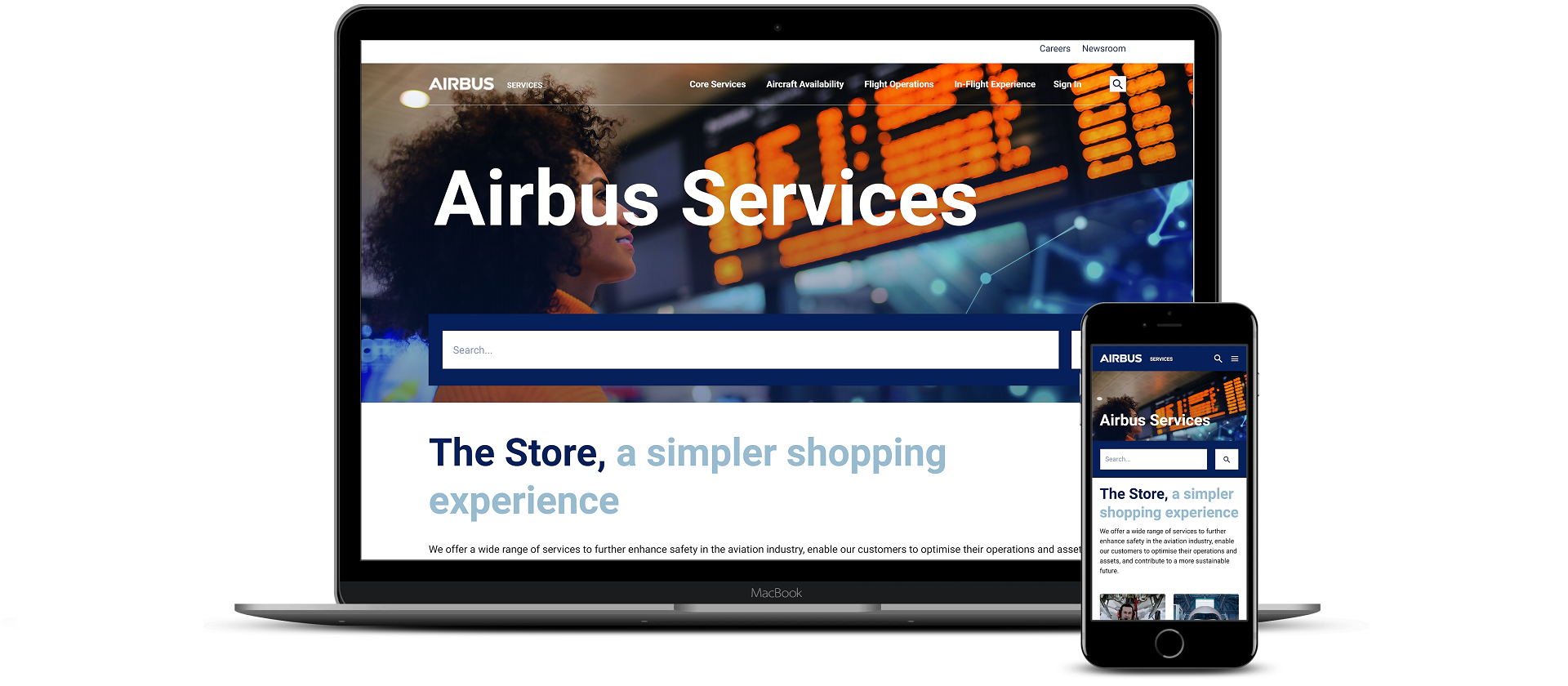 Airbus Services Store Banner