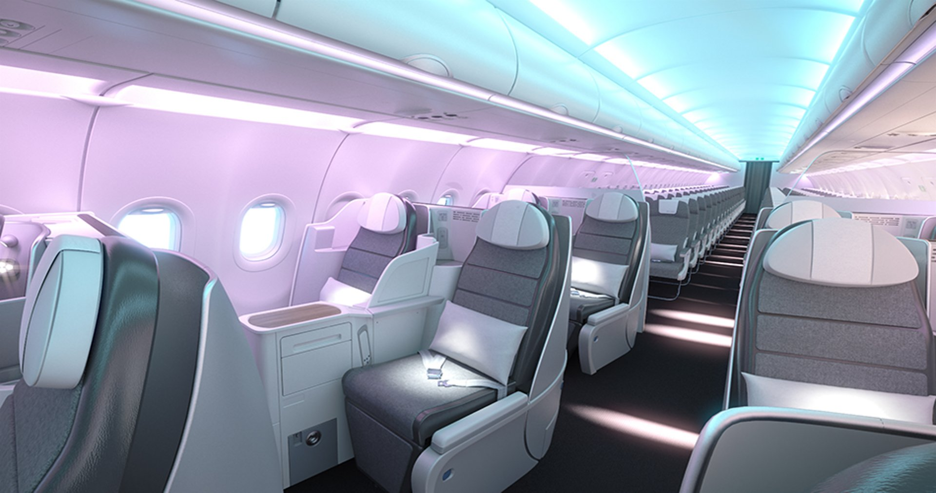 Enhancing the overall aircraft interiors perception and comfort by the passengers