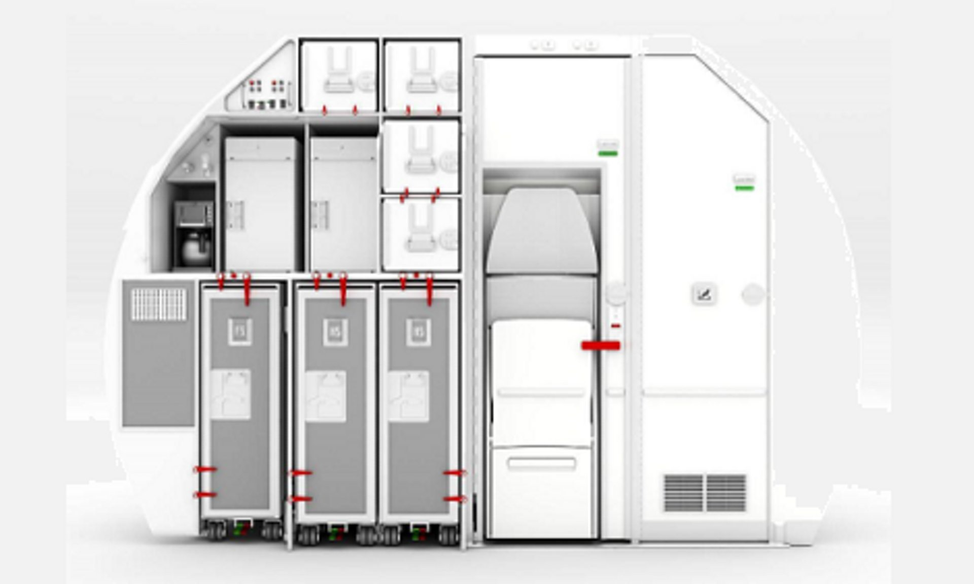188 PAX Solution for A320 A great solution for operators to increase revenues from cabin space.