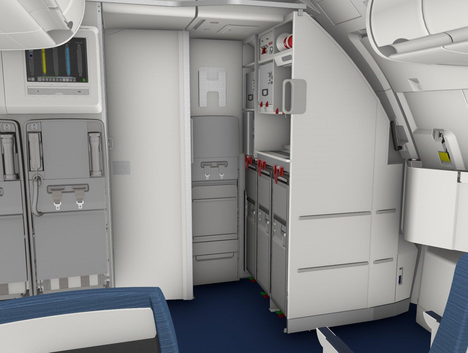 A320 G1 Longitudinal galley