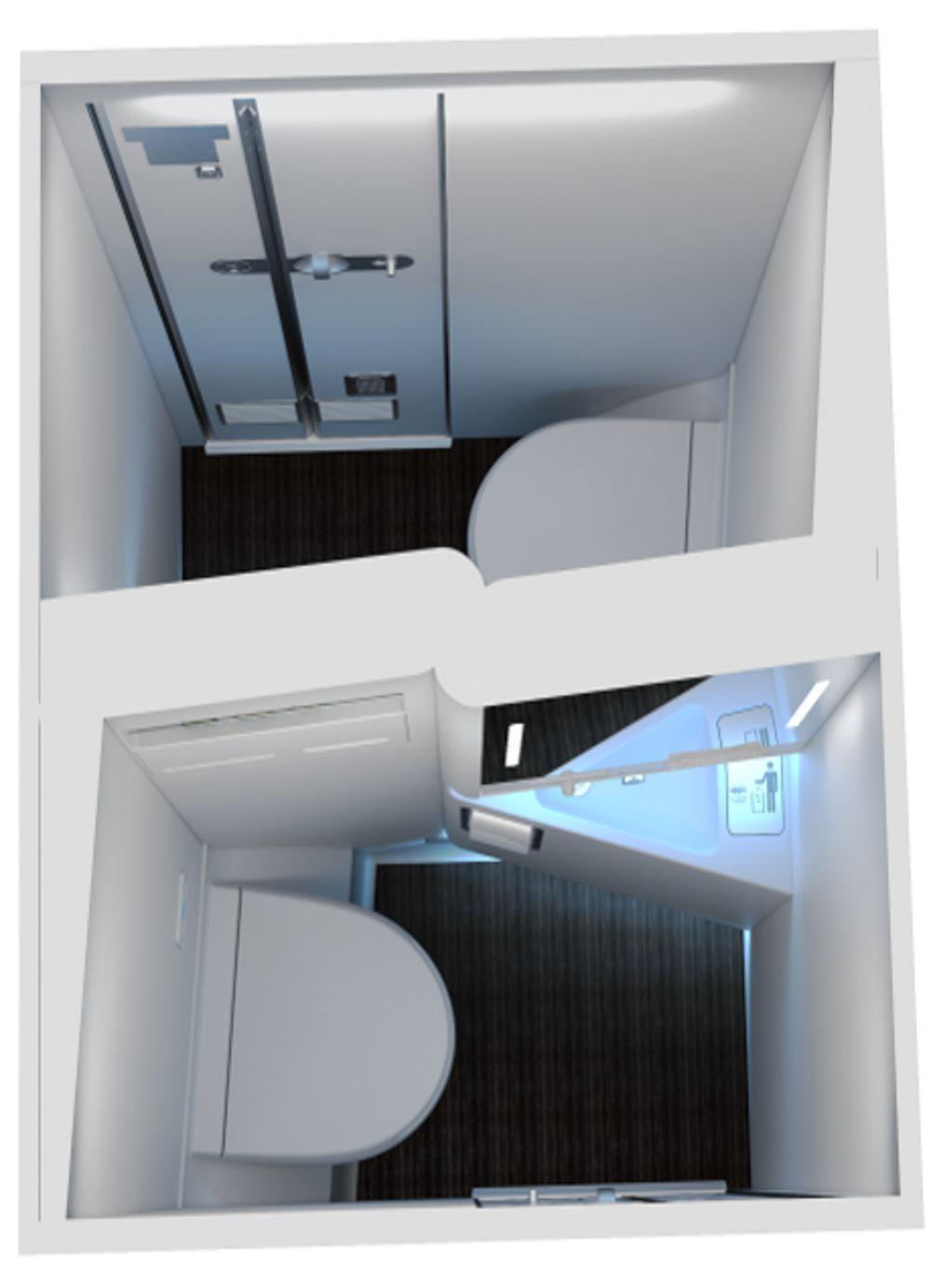 Angled-Wall Lavatory