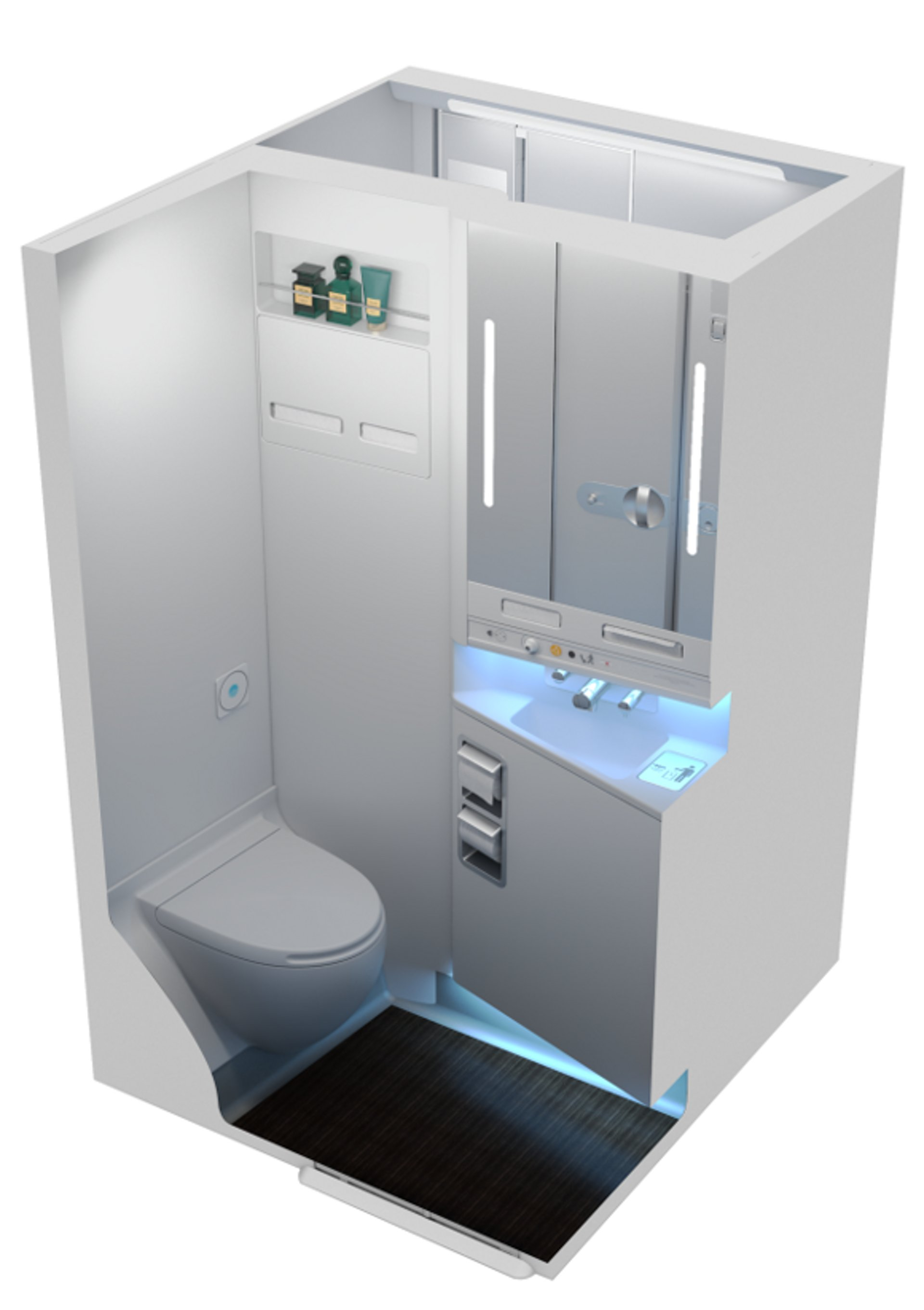 Optimised lavatory design providing more cabin length for more seats in a 9-abreast tailored configuration.