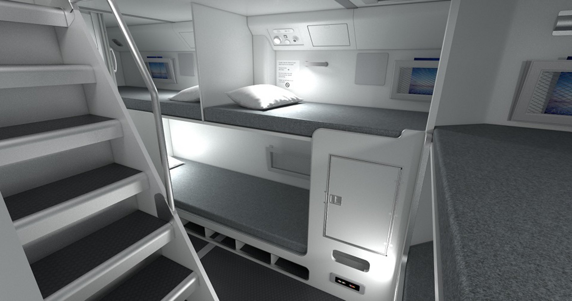Airbus proposes a more ergonomic and comfortable interior for cabin and flight crew optimising cabin space.