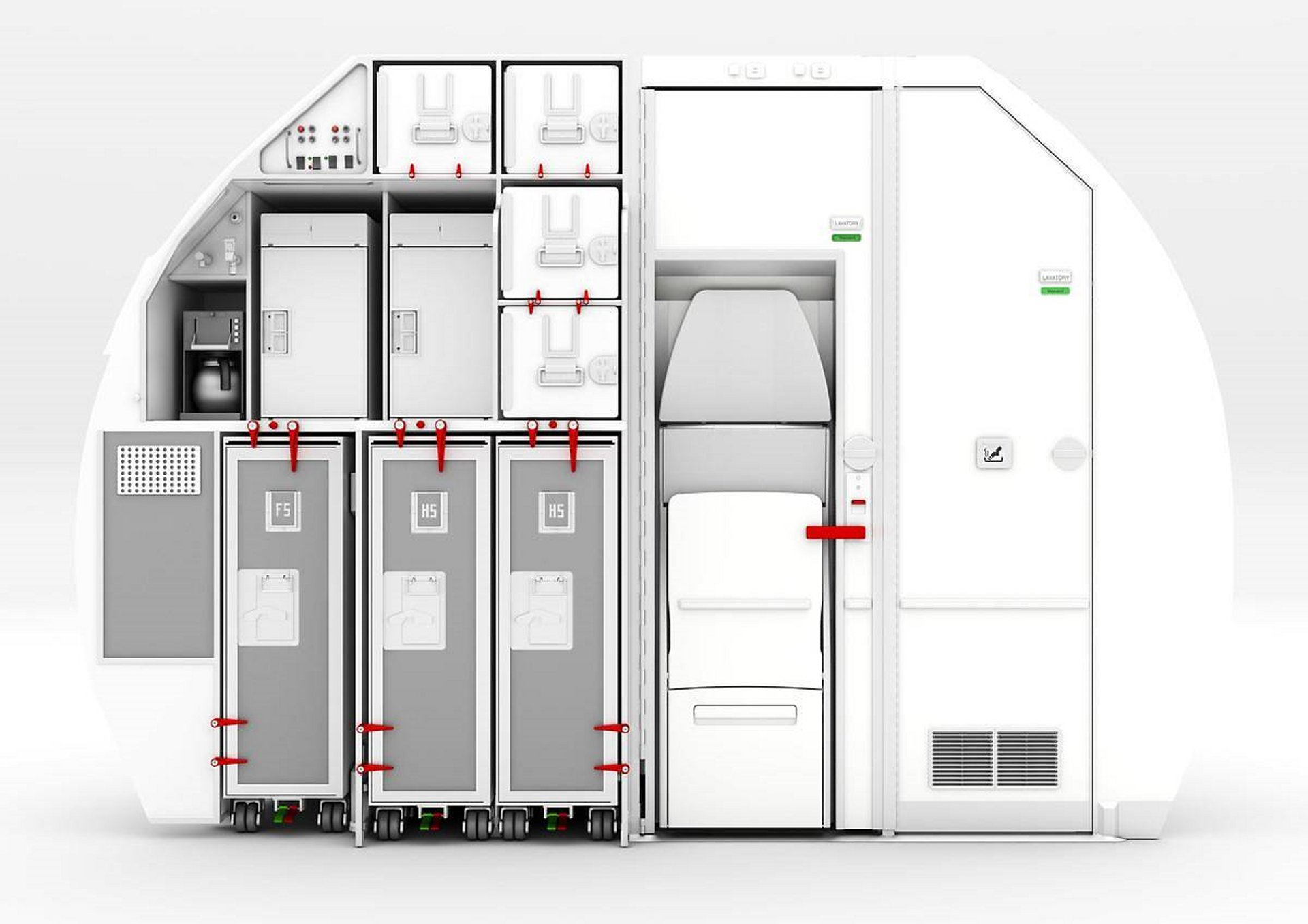 Space-Flex is a new rear galley and lavatory configuration that makes more efficient use of the rear cabin volume and offers the first Person with Reduced Mobility capable lavatory on A320 Family.