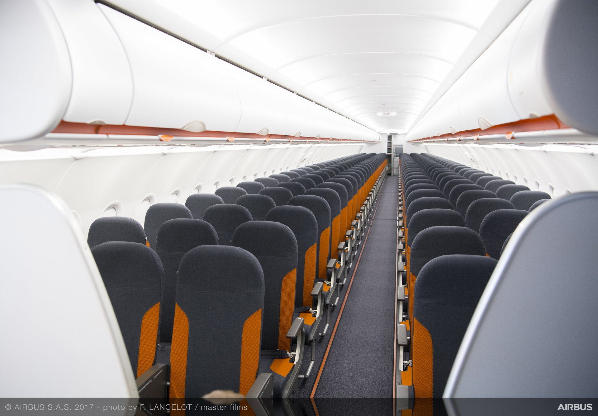 A320 Family cabin layout optimisation solutions, resulting in a set of enablers that add seats without reducing comfort.
