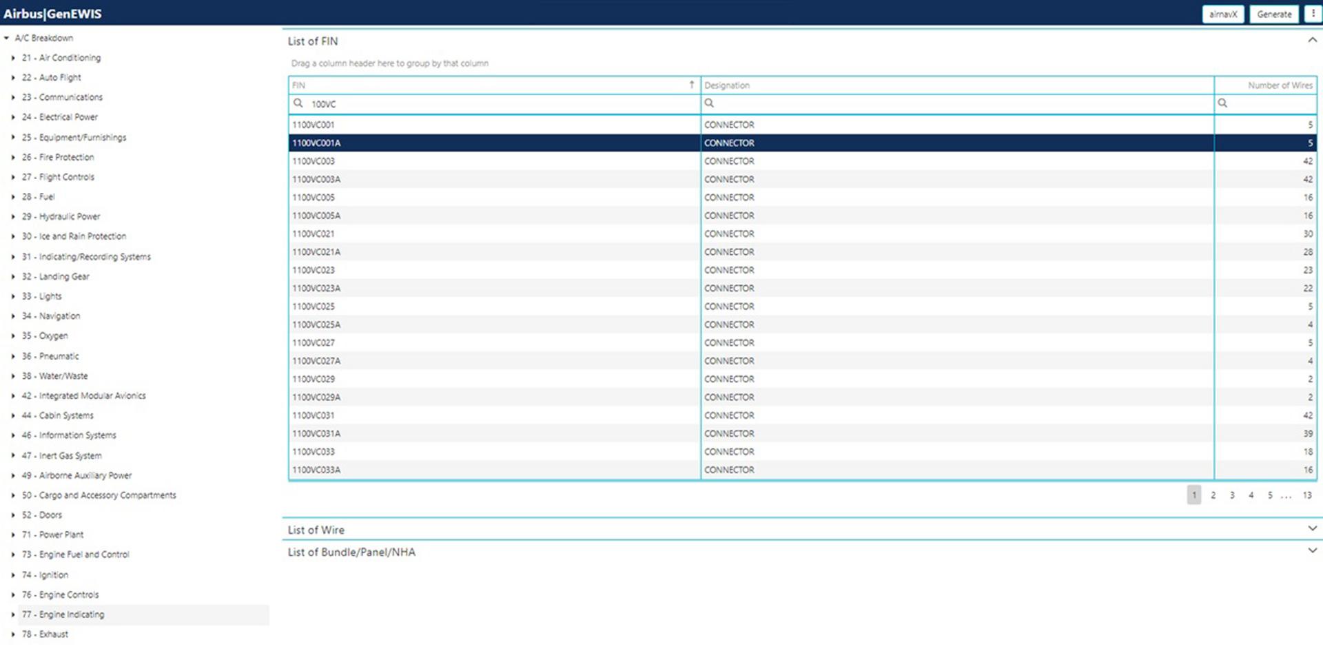 9 GenEWIS Application In AirnavX