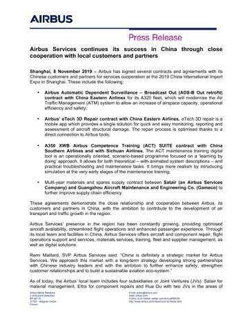 Airbus signs Services contracts and agreements with its Chinese customer...[1].docx