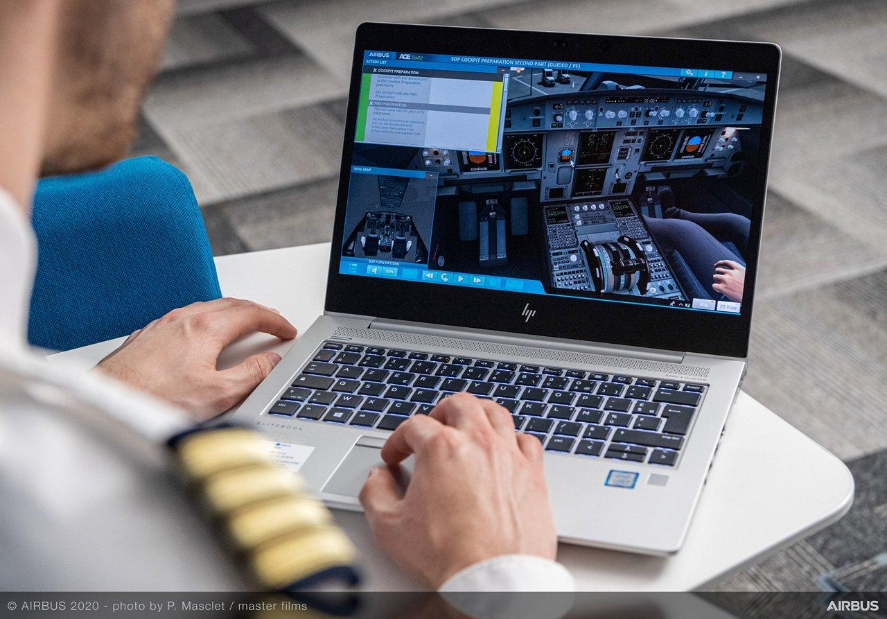 Pilot using ACE Suite SOP Cockpit Preparation through distance learning