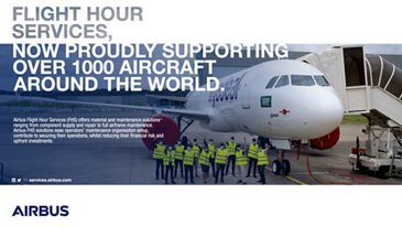 Airbus celebrates the 1,000th aircraft covered by Flight Hour Services with flyadeal