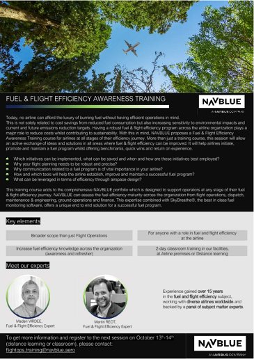 NAVBLUE Fuel and Flight efficiency training