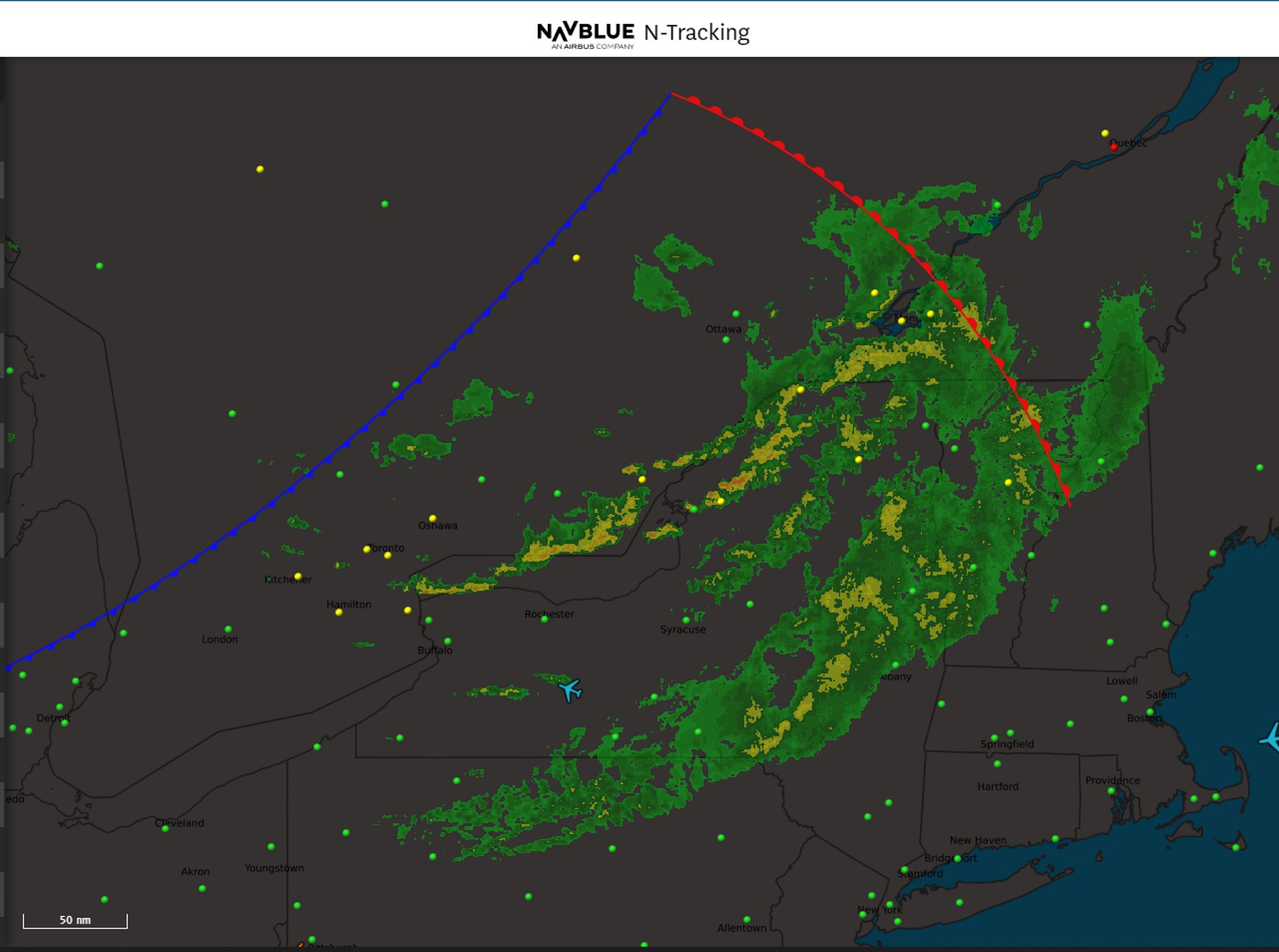 N-Tracking is a browser-based Aircraft-Situational-Display solution from NAVBLUE that empowers the dispatcher with real-time Flight Monitoring, Situational-Awareness and Enroute Communication in a single application.