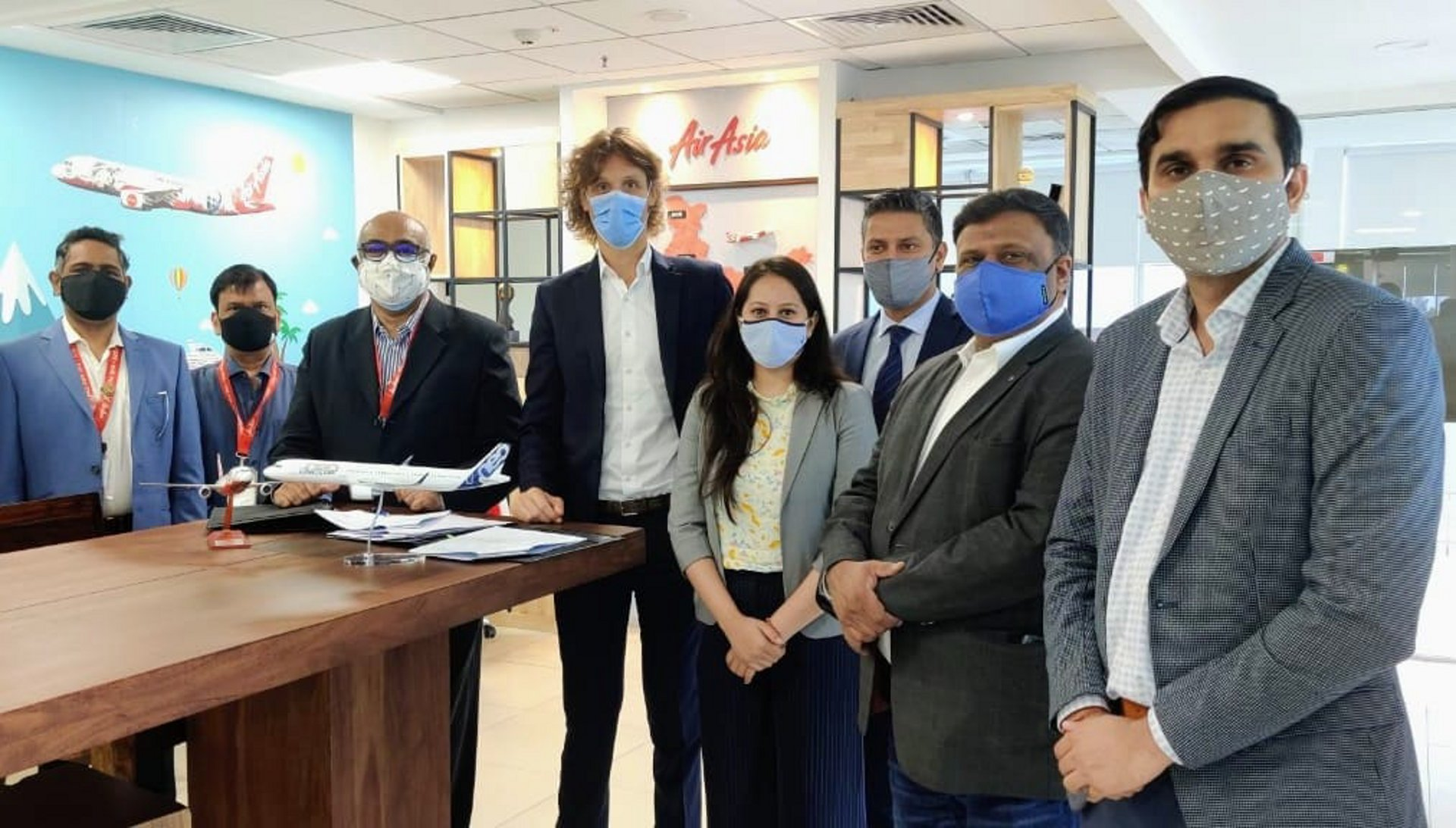 AirAsia India and Airbus teams at signing ceremony