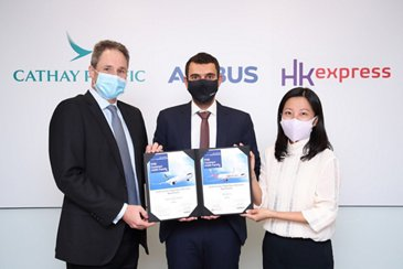 Cathay Pacific Airways and HK Express select Airbus FHS to support their A320 Family fleets