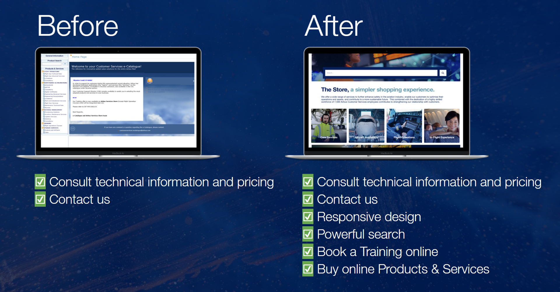 Airbus Services Store e commerce