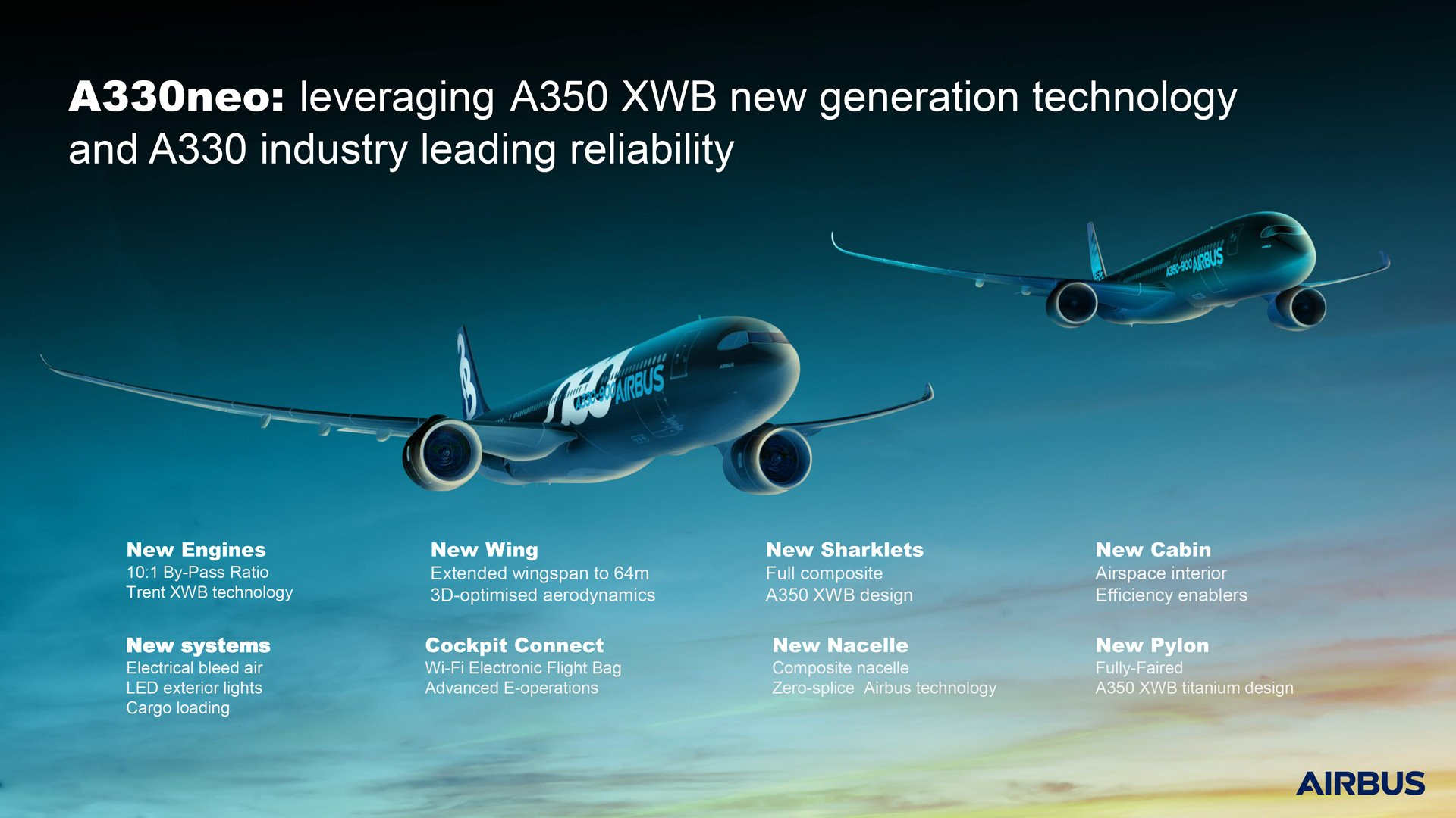 A330neo A350XWB Commonality Infographic