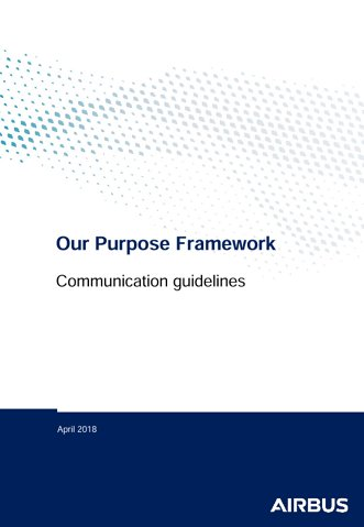 Airbus Purpose Framework Communication Guidelines
