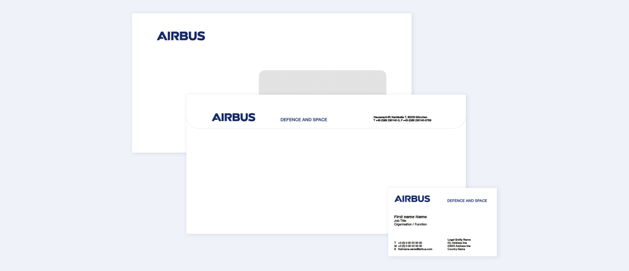 Airbus Cybersecurity Stationery Envelope Business Card