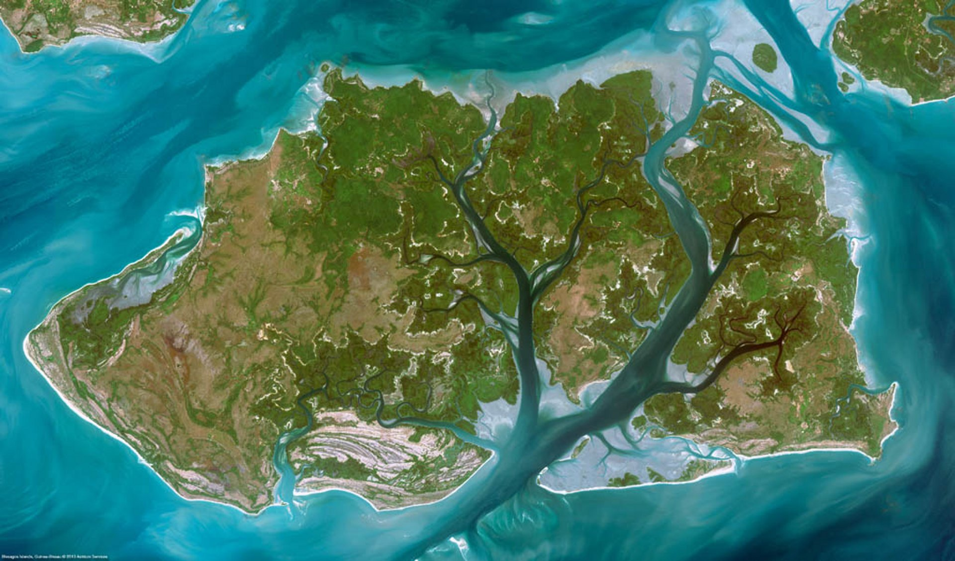 Satellite Image Spot6 Bissagos Guinea Bissau