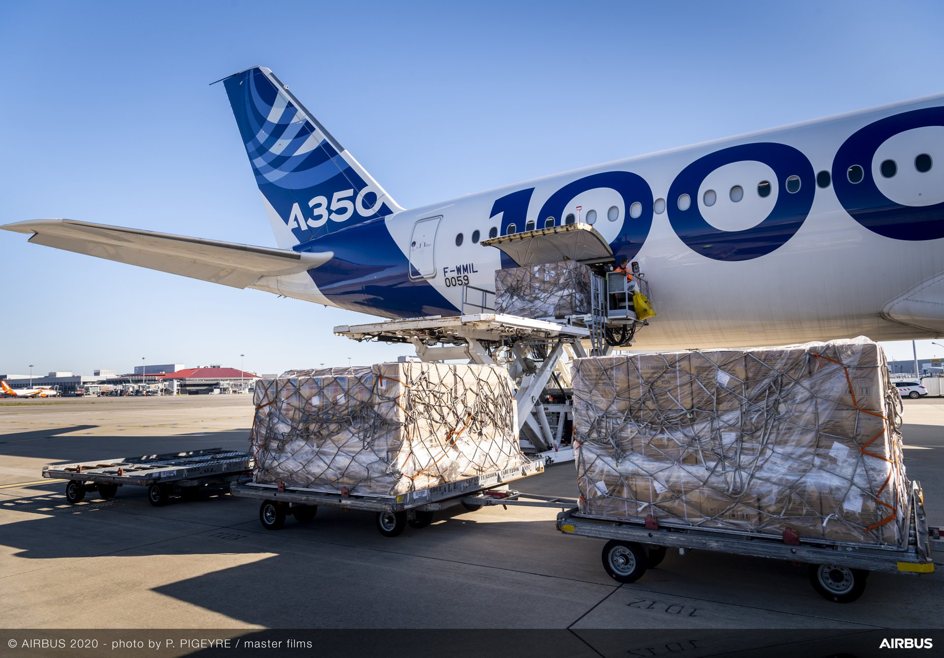 Today Airbus is especially proud of Airbus Flight Test teams and all those involved in this #A350-1000 flight supporting the China-Europe air-bridge over the last 3 days.   More face masks and medical supplies will be handed over to governments in the next few days, supporting medical teams. #COVID19