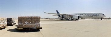 A350-1000 ready for cargo loading in Tianjin