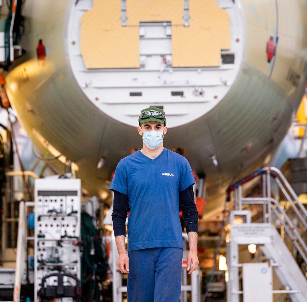 Airbus organizes safe return to work. #Covid19