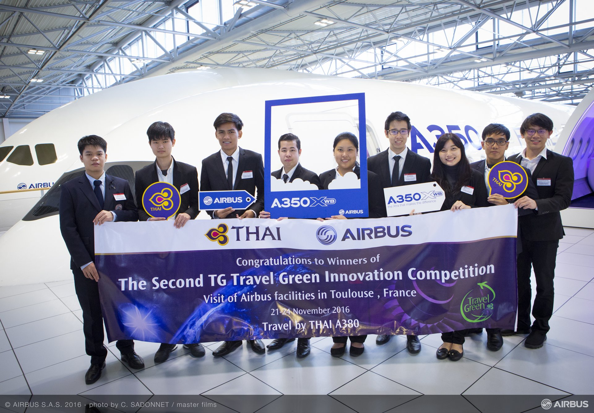Thailand student innovators at Airbus in Toulouse