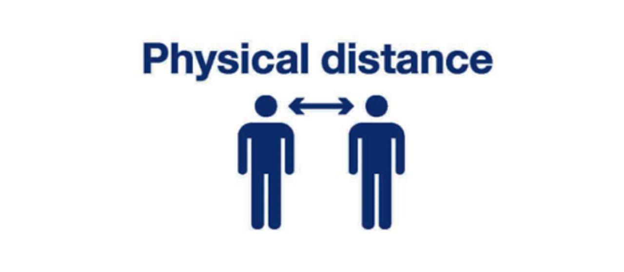 Safe travel - keep physical distance
