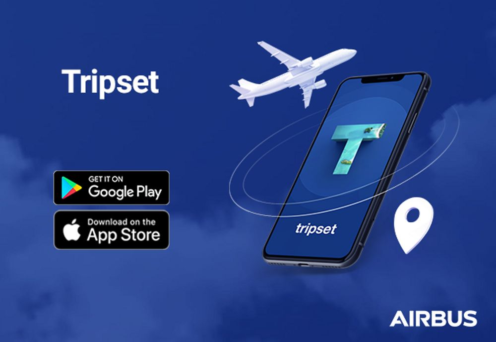The Airbus Tripset application, which provides the flying public with real-time information for safe, healthy and smooth end-to-end journeys, is available for free-of-charge downloading on Android and iOS devices