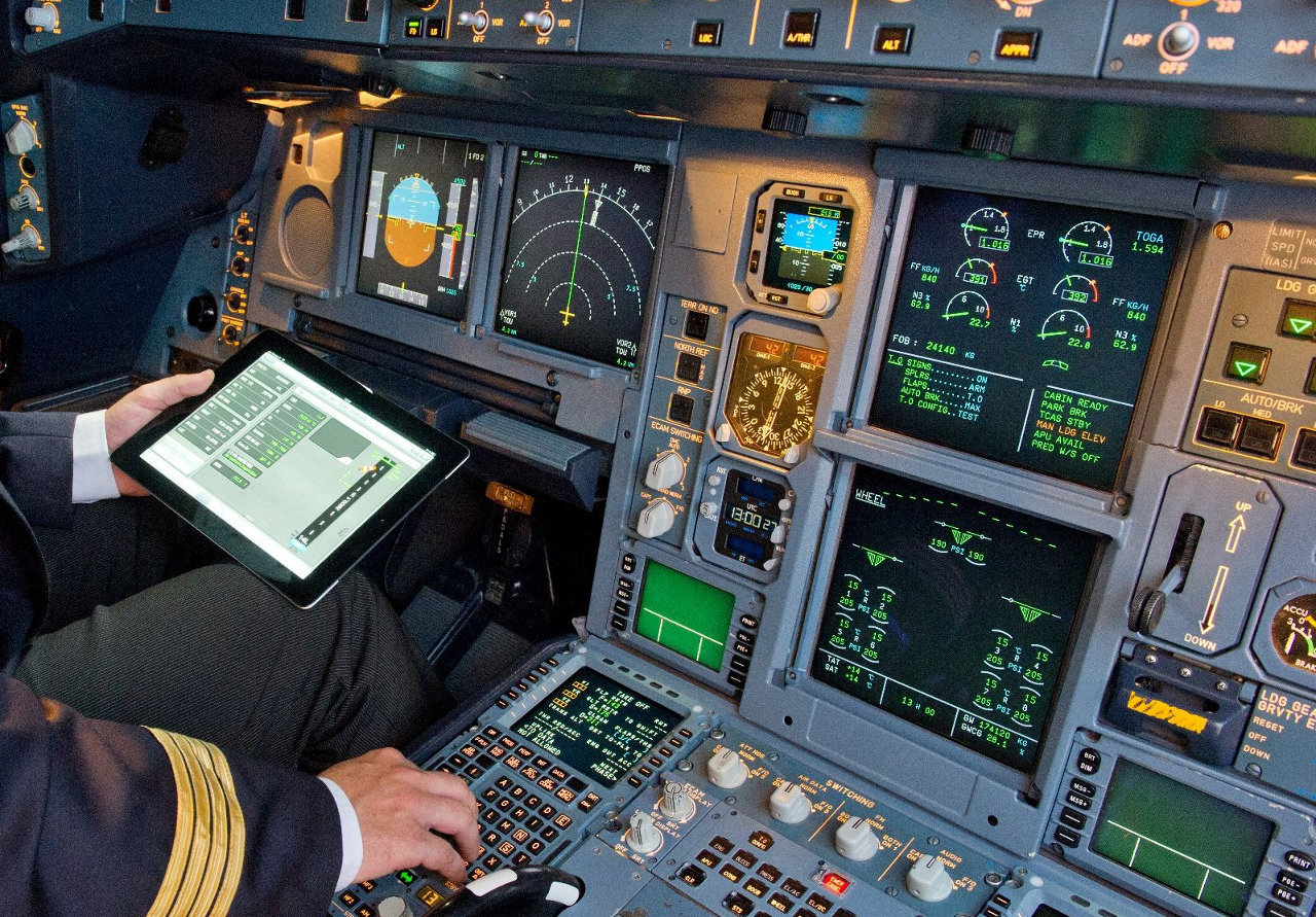 'Electronic Flight Bags' (EFBs) Credits: Airbus