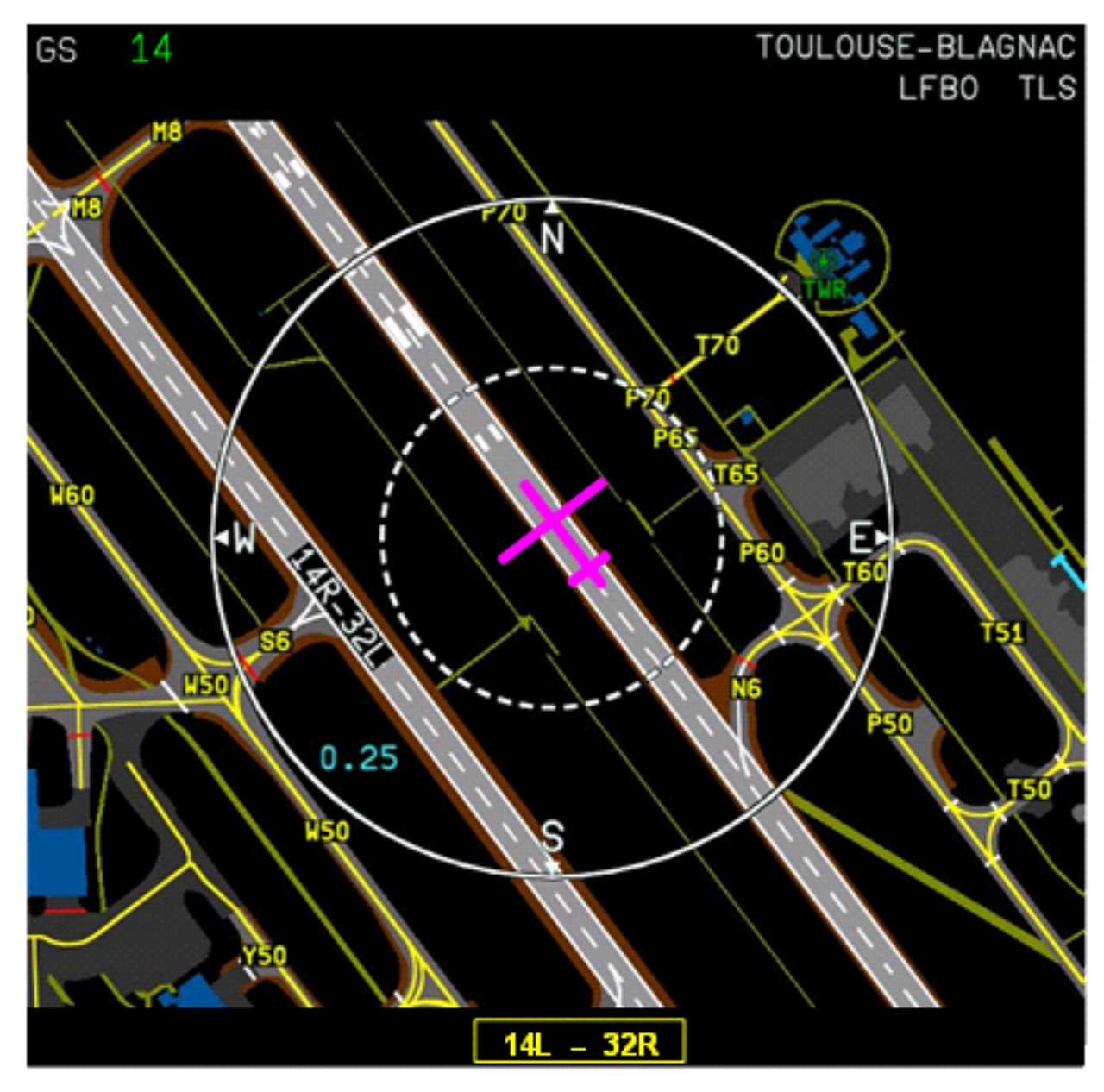 The 'On-board Airport Navigation System' (OANS) - which was introduced on the A350 and is now available on the A330neo - presents the pilot with a map of the airport apron, its runways and all the taxiways, showing the aircraft's exact location in real-time.