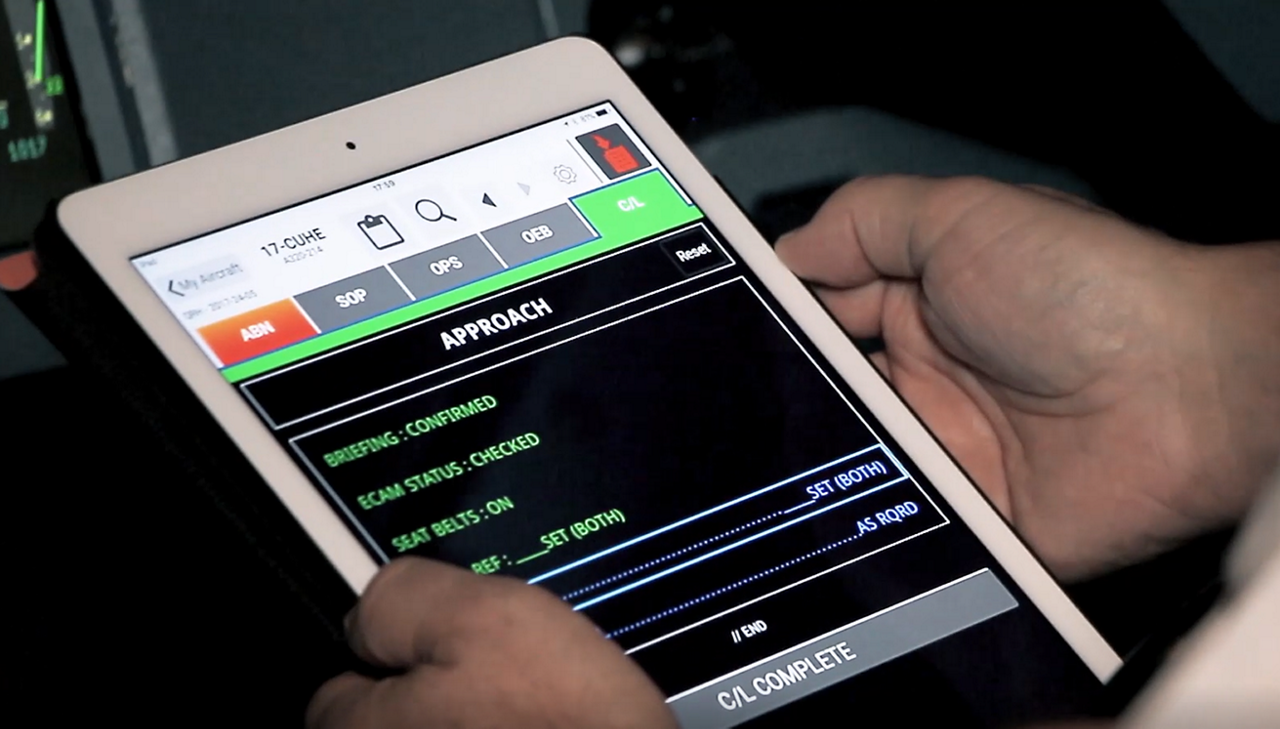 Whereas previously pilots used the paper checklists; following innovation on the A350, Airbus is now implementing integrated checklists into the A330neo, giving pilots the very same digital 'look and feel' on both aircraft. In the A330neo these are included in the 'electronic Quick Reference Handbook' (eQRH), displayed on the pilot's EFB screen.