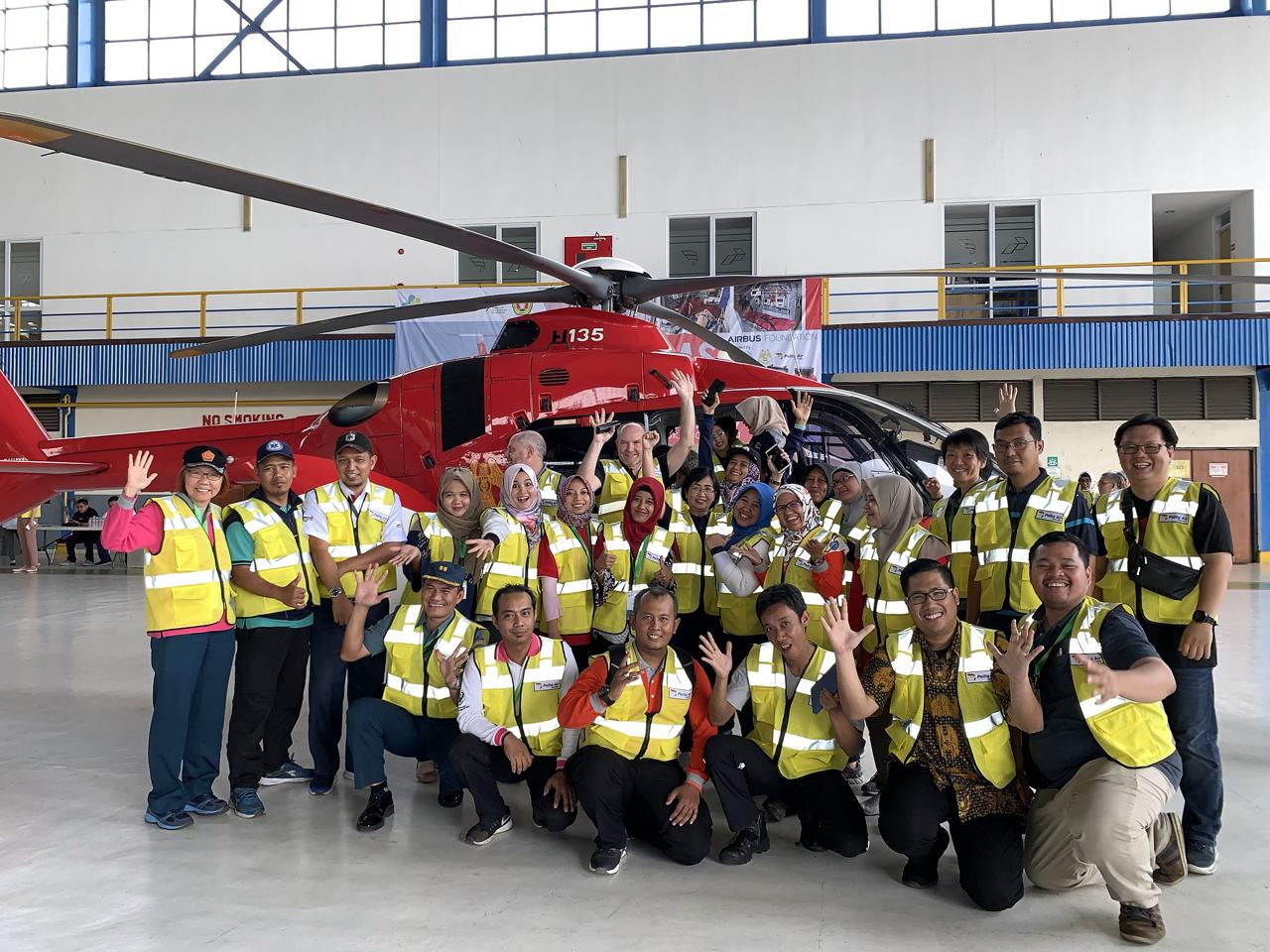 H135 HEMS-training in Indonesia.
