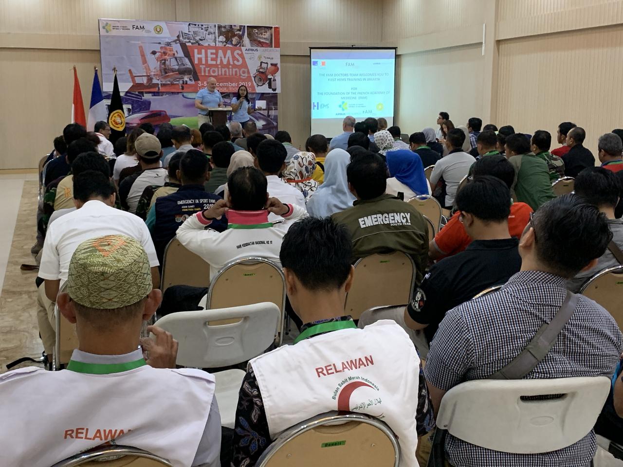 HEMS-training in Indonesia.