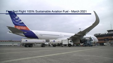 First Test Flight 100% Sustainable Aviation Fuel