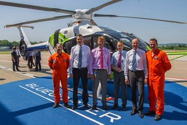 Eco-friendly and eco-efficient technologies of tomorrow take to the sky with Airbus Helicopters' Bluecopter demonstrator