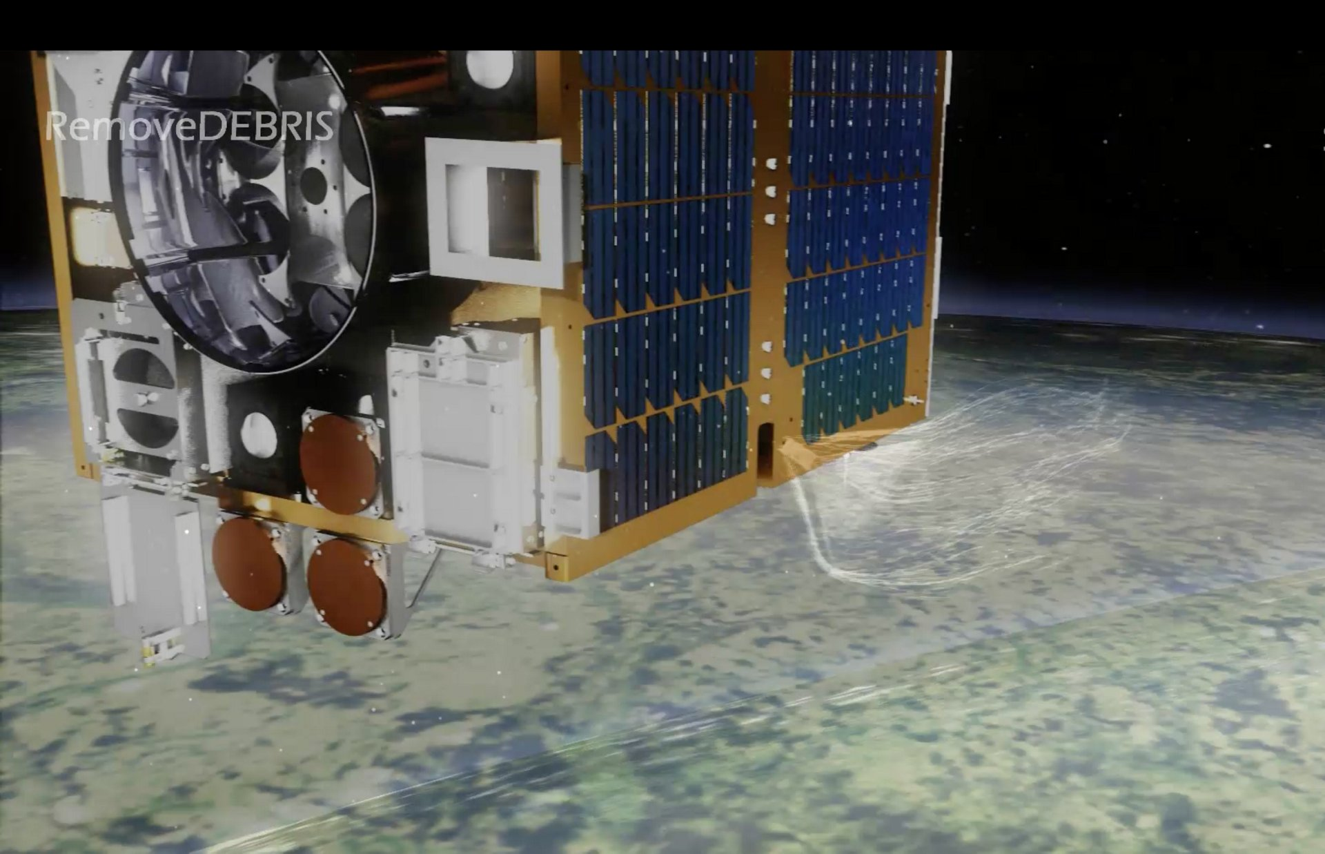RemoveDEBRIS Demonstrator Satellite