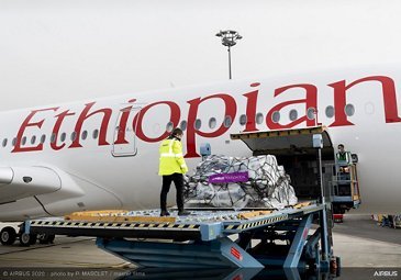 A350 Delivery To Ethiopian Airlines Humanitarian Loading