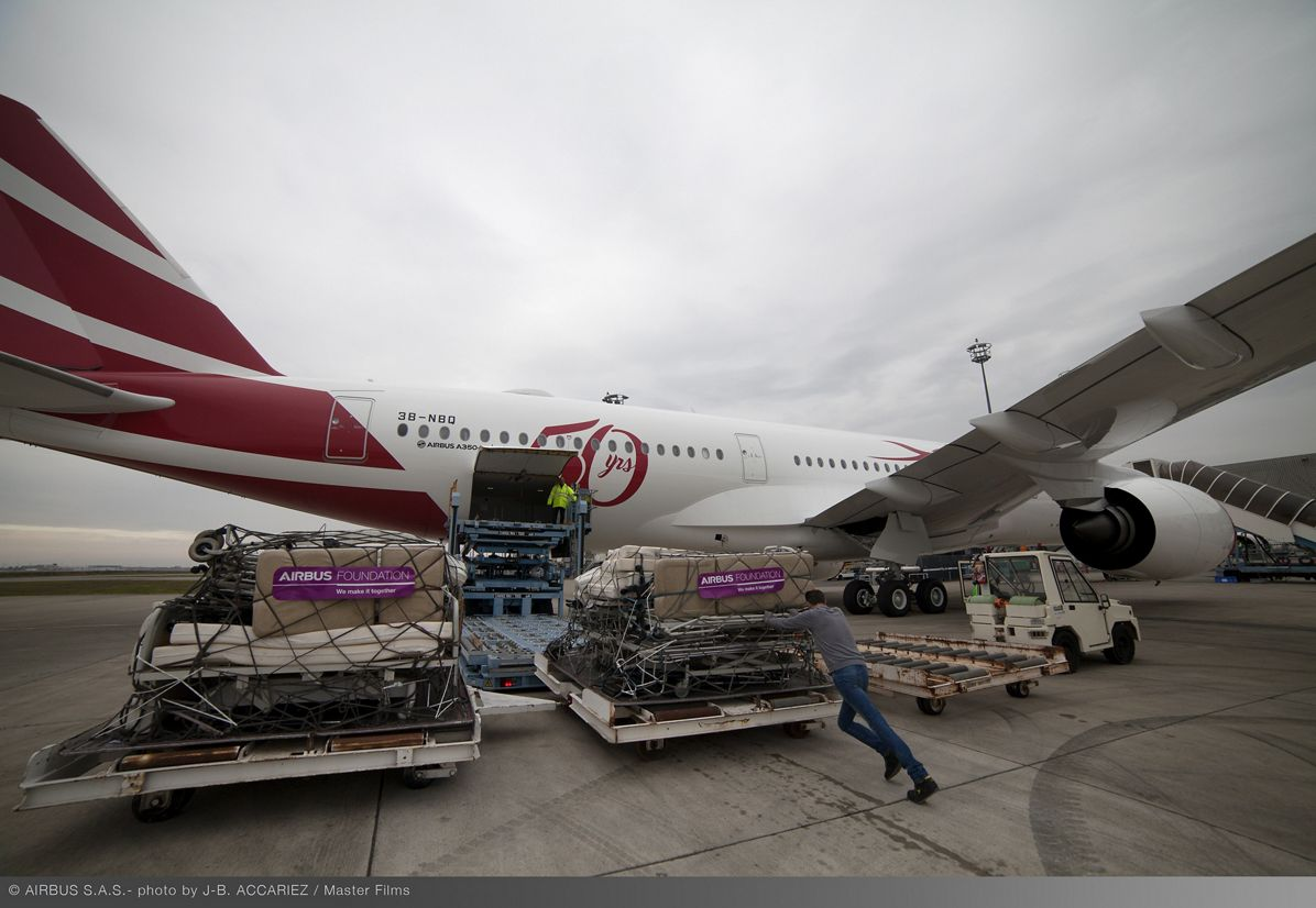 Airbus Foundation And Air Mauritius Ferry Flight