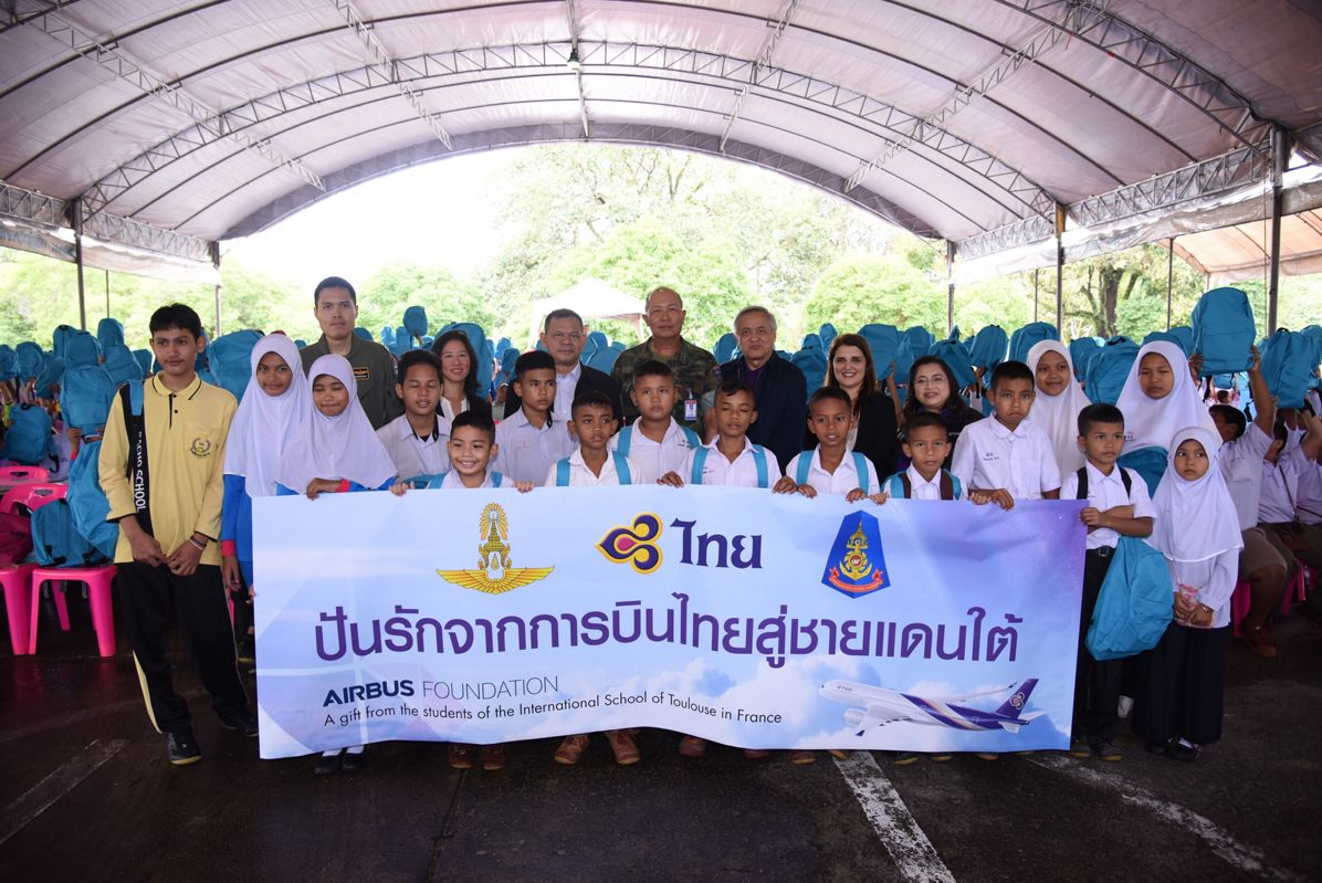 Airbus Foundation And THAI Deliver School Supplies To Narathiwat Province In Thailand