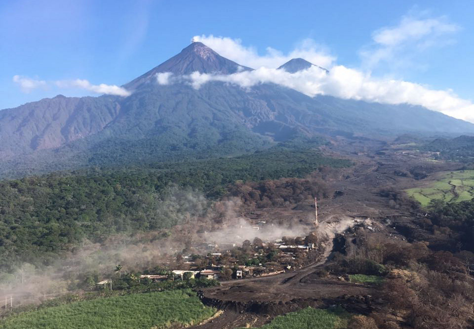 Airbus Foundation provides assistance in Guatemala after the eruption of the Volcán de Fuego