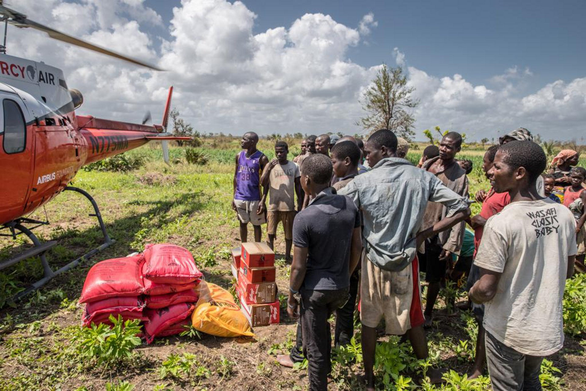 Helicopters are essential in the first phases of a crisis