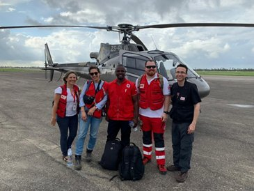 Helicopter for the Red Cross