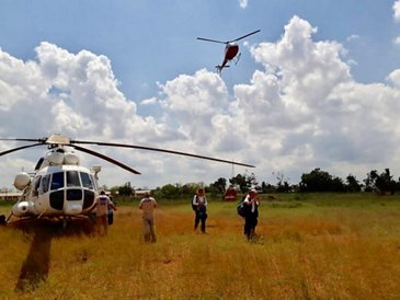 Helicopters for humanitarian actions in Mozambique