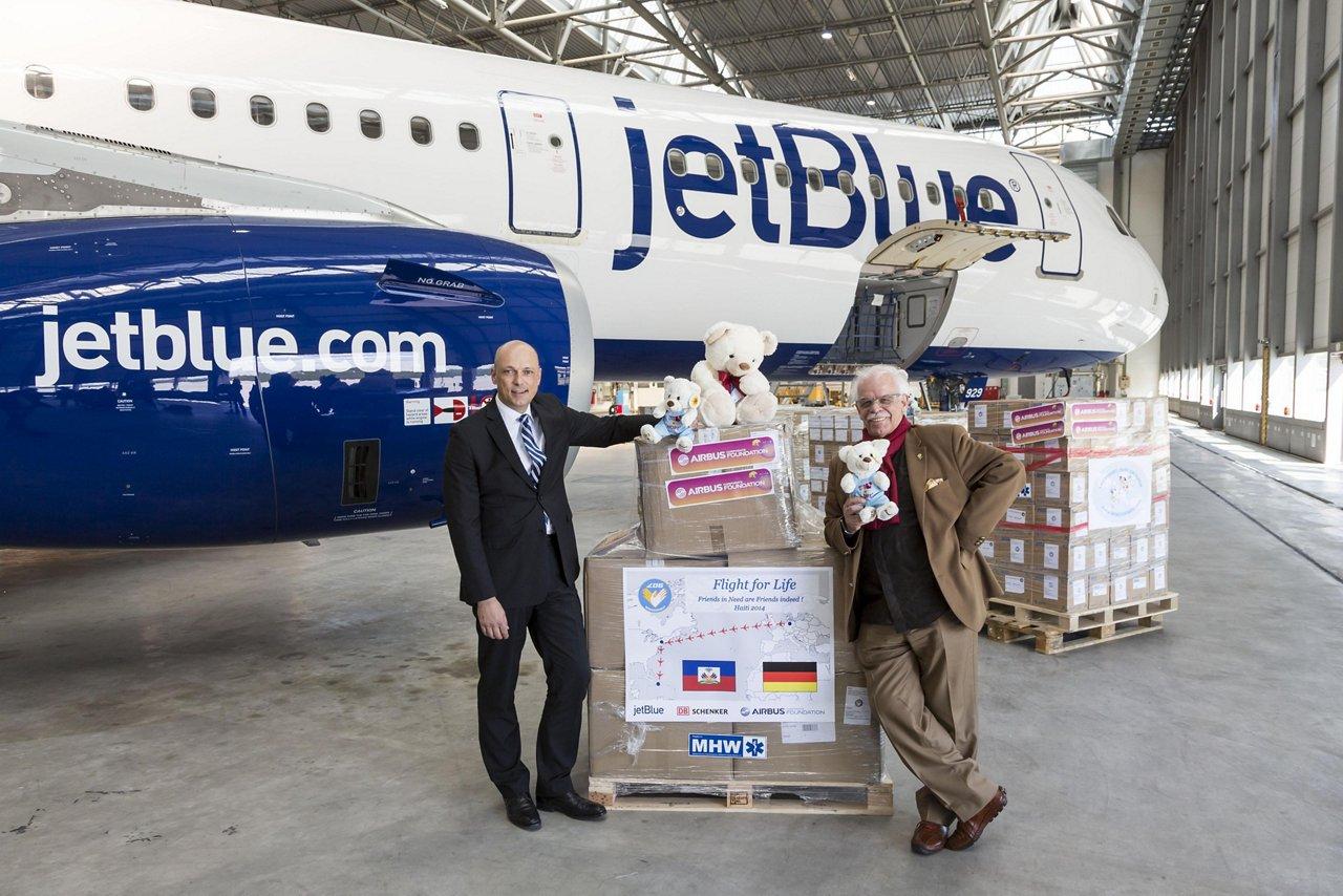 Airbus Corporate Foundation, JetBlue and Luftfahrt ohne Grenzen – Haiti aid 1